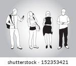 set of people using smart... | Shutterstock .eps vector #152353421