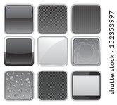 web apps buttons set | Shutterstock .eps vector #152353997