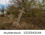 Old Stone Cross Grave Markers...