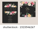 wedding card with beautiful... | Shutterstock .eps vector #1523546267
