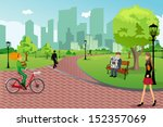 a vector illustration of young... | Shutterstock .eps vector #152357069