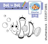 dot to dot educational game and ... | Shutterstock .eps vector #1523571881