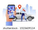 smart city transportation... | Shutterstock .eps vector #1523609114