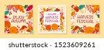 bundle of seasonal vector... | Shutterstock .eps vector #1523609261