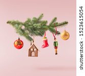 christmas card conception.... | Shutterstock . vector #1523615054