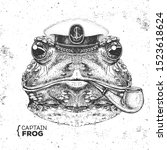 Hipster Animal Frog Captain\'s...