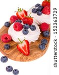 summer fruit pavlova displayed... | Shutterstock . vector #152363729