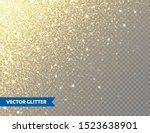 sparkling golden glitter on... | Shutterstock .eps vector #1523638901