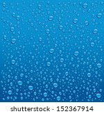 water drops on blue background | Shutterstock .eps vector #152367914