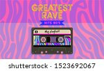 greatest rave music mix. retro...   Shutterstock .eps vector #1523692067
