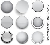 set of blank grey round buttons ... | Shutterstock .eps vector #152369219