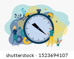 stopwatch  courier services ... | Shutterstock .eps vector #1523694107