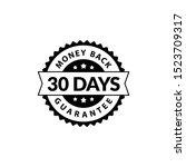 black 30 days money back... | Shutterstock .eps vector #1523709317