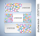 Colorful Banners With Hexagons...
