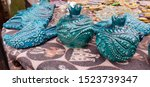 Bright Blue Souvenir Ceramics...