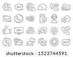 processing line icons. set of... | Shutterstock .eps vector #1523744591