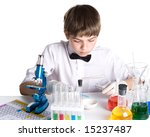 the boy with a microscope and... | Shutterstock . vector #15237487