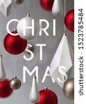christmas background with... | Shutterstock .eps vector #1523785484