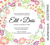 invitation or wedding card with ... | Shutterstock .eps vector #152378945
