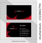abstract vector business card...   Shutterstock .eps vector #1523802794