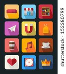 flat icon set 5 | Shutterstock .eps vector #152380799