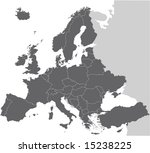 europe vector map hand drawn... | Shutterstock .eps vector #15238225