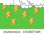 Comic thunder storm green...