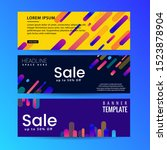 abstract motion banners.... | Shutterstock .eps vector #1523878904