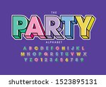 vector of stylized modern font... | Shutterstock .eps vector #1523895131
