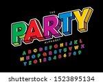 vector of stylized modern font... | Shutterstock .eps vector #1523895134