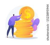 finances management. budget... | Shutterstock .eps vector #1523895944