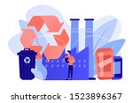 specialist at plant recycling... | Shutterstock .eps vector #1523896367