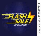 flash sale design for business... | Shutterstock .eps vector #1523897714