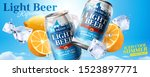 Iced Cool Light Beer Banner Ad...