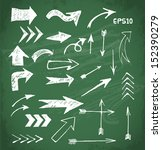 sketch arrows collection for... | Shutterstock .eps vector #152390279