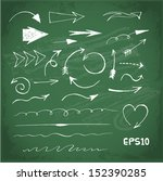sketch arrows collection for... | Shutterstock .eps vector #152390285