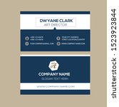 creative business card template ... | Shutterstock .eps vector #1523923844