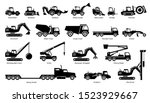 list of construction vehicles ... | Shutterstock .eps vector #1523929667