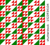 Christmas Triangles Pattern In...