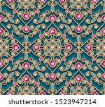 vintage jewelry gold ornamental ... | Shutterstock .eps vector #1523947214
