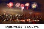 the mid town manhattan skyline... | Shutterstock . vector #15239596