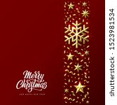 christmas background with... | Shutterstock .eps vector #1523981534