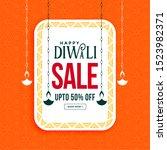 happy diwali sale banner with... | Shutterstock .eps vector #1523982371
