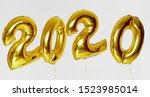 christmas helium balloons 2020...   Shutterstock . vector #1523985014