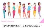 women character design...   Shutterstock .eps vector #1524006617