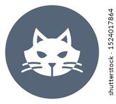animal isolated vector icon... | Shutterstock .eps vector #1524017864