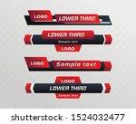 tv news bar.  lower third tv... | Shutterstock .eps vector #1524032477