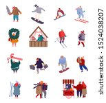 set of people characters... | Shutterstock .eps vector #1524038207