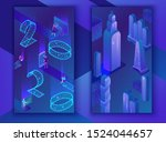 social media stories vector set ... | Shutterstock .eps vector #1524044657