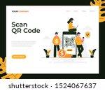 scan qr code flat vector...